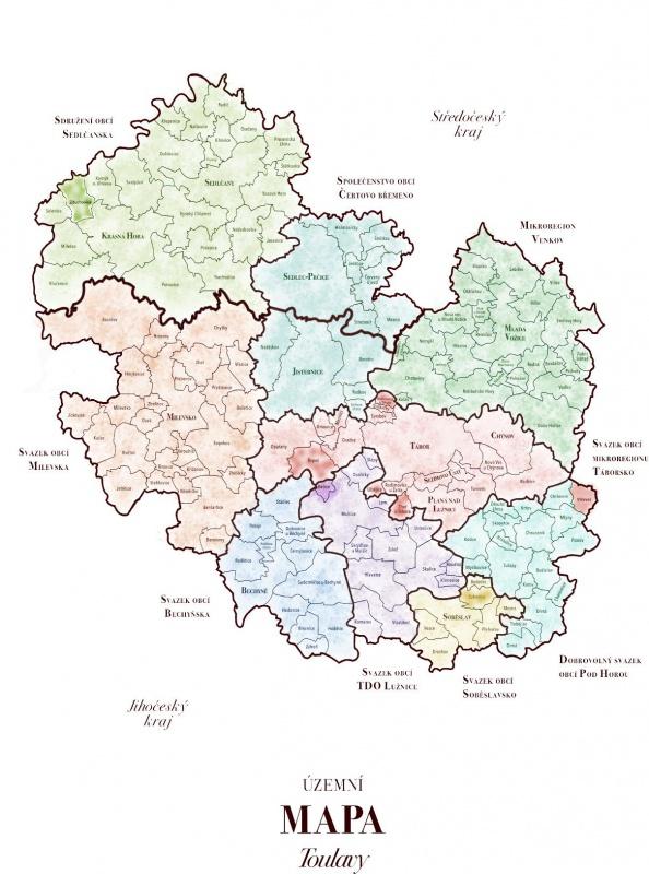 Územní mapa Toulavy